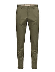 Slim-fit cotton chinos - DARK GREEN