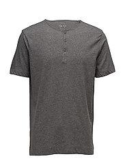 Flecked cotton-blend t-shirt - GREY
