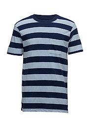 Striped cotton shirt - NAVY