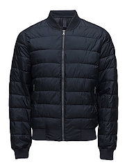 Quilted bomber jacket - NAVY