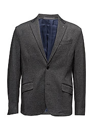 Speckled regular-fit blazer - GREY