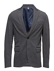 Slim-fit unstructured blazer - GREY
