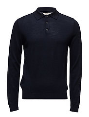 Button wool sweater - NAVY