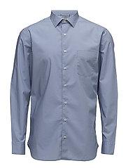 Slim-fit cotton shirt - LT-PASTEL BLUE