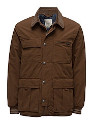 Cotton nylon-blend field jacket - MEDIUM BROWN