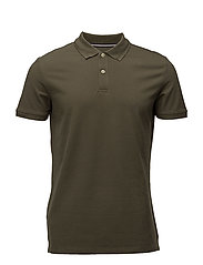 Slim-fit cotton polo shirt - BEIGE - KHAKI