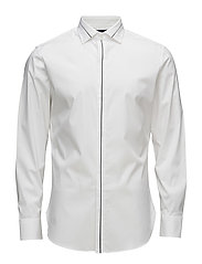 Slim-fit Tailored stretch cotton shirt - WHITE