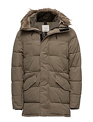 Hood quilted coat - MEDIUM BROWN