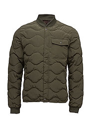 Quilted bomber jacket - DARK GREEN