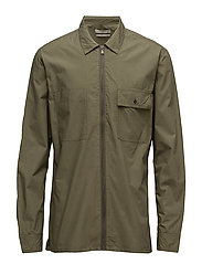 Regular-fit zip shirt - BEIGE - KHAKI