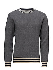 Contrast trim sweater - NAVY