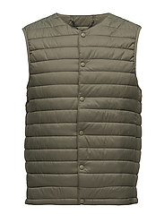 Quilted gilet - BEIGE - KHAKI