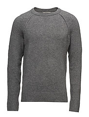 Textured knit sweater - MEDIUM GREY