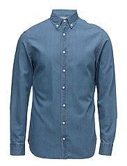 Slim-fit light denim shirt - OPEN BLUE