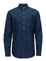 Regular-fit cotton shirt - OPEN BLUE
