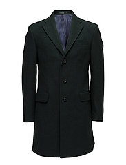 Structured wool coat - DARK GREEN