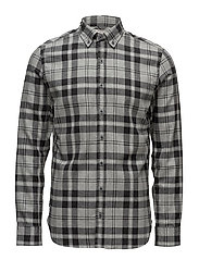Slim-fit check flannel shirt - LT PASTEL GREY