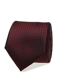 Patterned tie - DARK RED