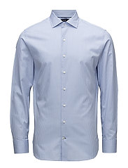 Slim-fit Tailored check shirt - LT-PASTEL BLUE