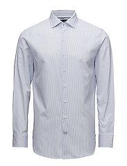 Slim-fit Tailored bengal-stripe shirt - LT-PASTEL BLUE
