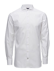 Slim-fit Tailored cotton shirt - WHITE