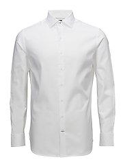 Slim-fit Tailored textured shirt - WHITE