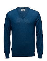 Merino wool sweater - DARK BLUE