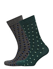 2 pack polka-dot socks - DARK GREEN
