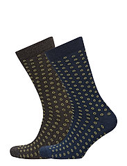 2 pack polka-dot socks - DARK GREY