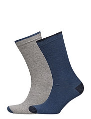 2 pack flecked socks - MEDIUM GREY
