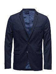Super slim-fit patterned suit blazer - NAVY