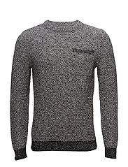 Knit cotton sweater - DARK GREY