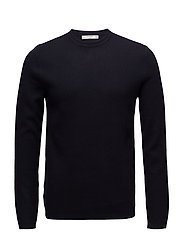 Knit cotton sweater - NAVY