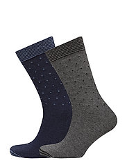 2 pack polka-dot socks - NAVY