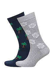 2 pack printed socks - NAVY