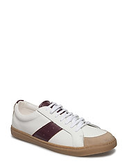 Leather panel sneakers - NATURAL WHITE