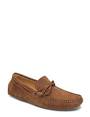 Suede driving shoes - MEDIUM BROWN