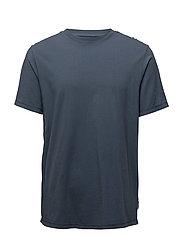 Essential cotton-blend t-shirt - MEDIUM BLUE