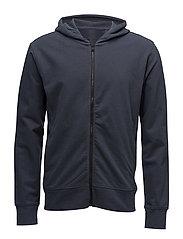 Hoodie cotton sweatshirt - MEDIUM BLUE