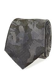 Camouflage silk tie - BEIGE - KHAKI