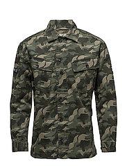 Camouflage cotton jacket - BEIGE - KHAKI