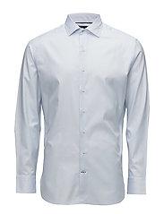 Slim-fit Tailored textured shirt - LT-PASTEL BLUE