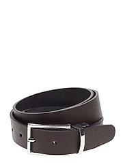 Reversible Tailored leather belt - BLACK