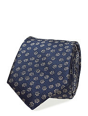 Insects print tie - NAVY