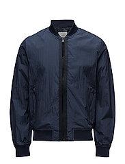 Nylon bomber jacket - NAVY