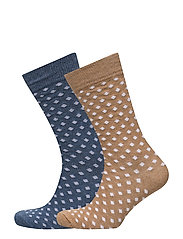 2 pack polka-dot socks - LIGHT BEIGE