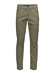 Slim-fit 5 pocket cotton trousers - BEIGE - KHAKI