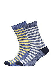 2 pack striped socks - MEDIUM BLUE