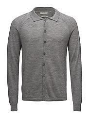 Merino wool cardigan - MEDIUM GREY