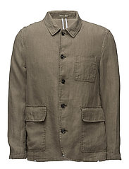Regular-fit linen suit blazer - BEIGE - KHAKI
